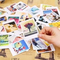 55 Pcs/Pack Vintage garnir Mini Lomo Carte Carte De Voeux Carte Postale D'anniversaire Lettre Enveloppe Cadeau Carte Ensemble Message Carte