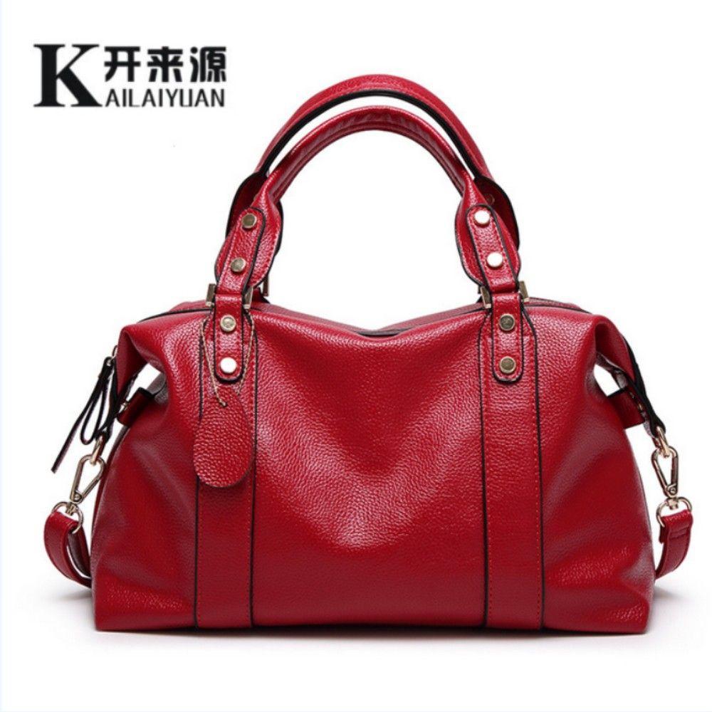 KLY 100% Genuine leather Women handbag 2018 New The trend of all-match Fashion Handbag Shoulder Messenger Handbag
