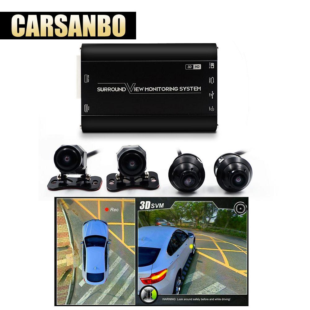 Carsanbo Neueste HD 3D 360 Surround View System fahr unterstützung Vogel Ansicht Panorama System 4 Auto kamera 1080 P DVR g-Sensor