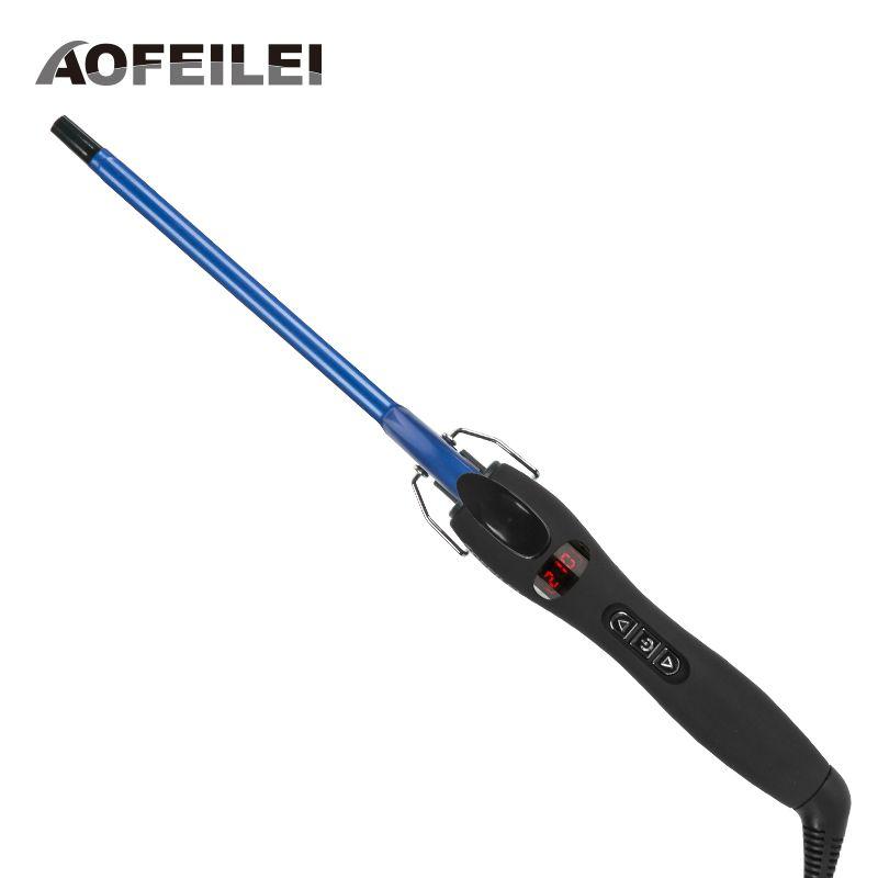 Aofeilei nouveauté professionnel 9mm fer à friser cheveux agiter poire fleur cône électrique curling baguette rouleau outils de style