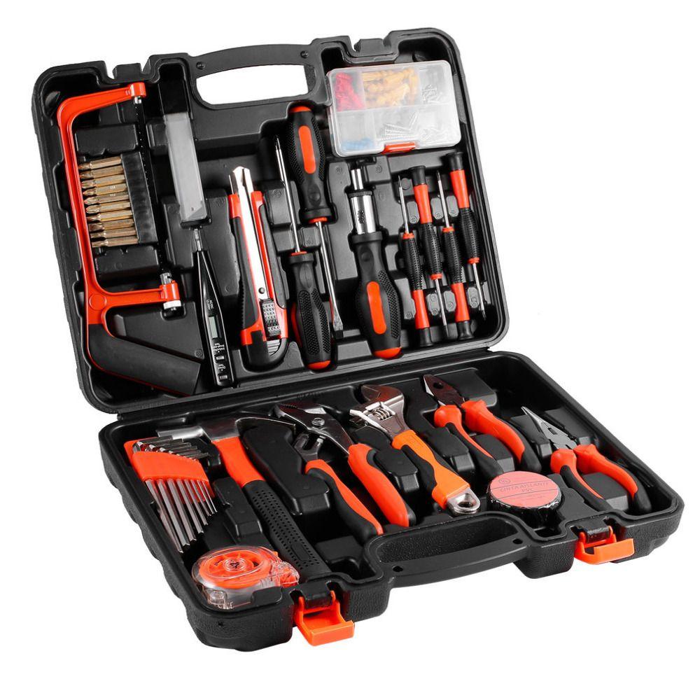 100 Pcs Robust lightweight Universal Multi-functional Precision Maintenance Repair Hardware Instrumental Sets Home Tool Kits