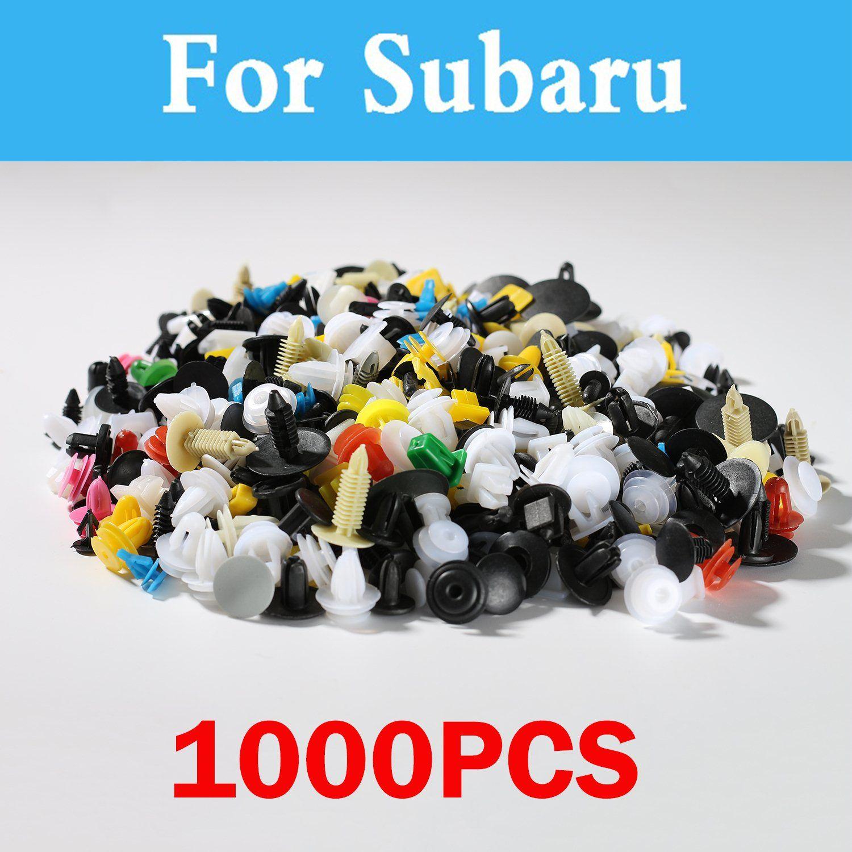 1000pcs Mixed Auto Styling Bumper Clips Retainer Fastener Rivet For Subaru Impreza Wrx Brz Dex Exiga Sti Justy Forester Alcyone