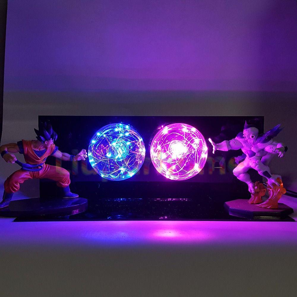 Dragon Ball Z Son Goku VS Freeza Luminaria LED Night Lights Anime Dragon Ball Super Figurine Toy DBZ Led Light Table Lamp