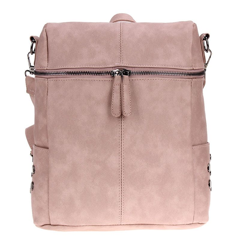 Многофункциональный из искусственной кожи с заклепками рюкзак сумка на молнии заклепки плеча ноутбука Для женщин рюкзак Bolsas Mochila рюкзак 2018