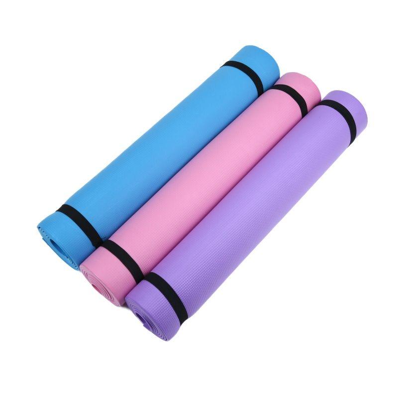 4 MM Dicke Frauen EVA Fitness Komfort Schaum Yoga Matte Für Übung, Yoga, Pilates