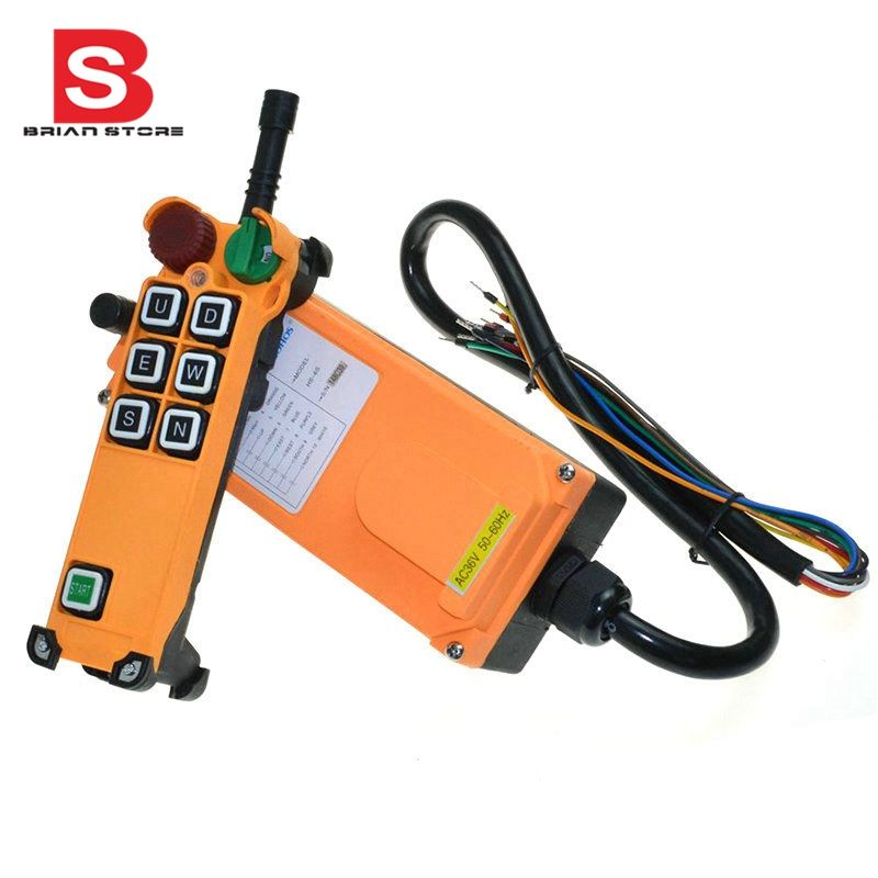 12-24VDC 6 Channel 1 Speed  1 Transmitter  Hoist Crane Truck Radio Remote Control System with E-Stop
