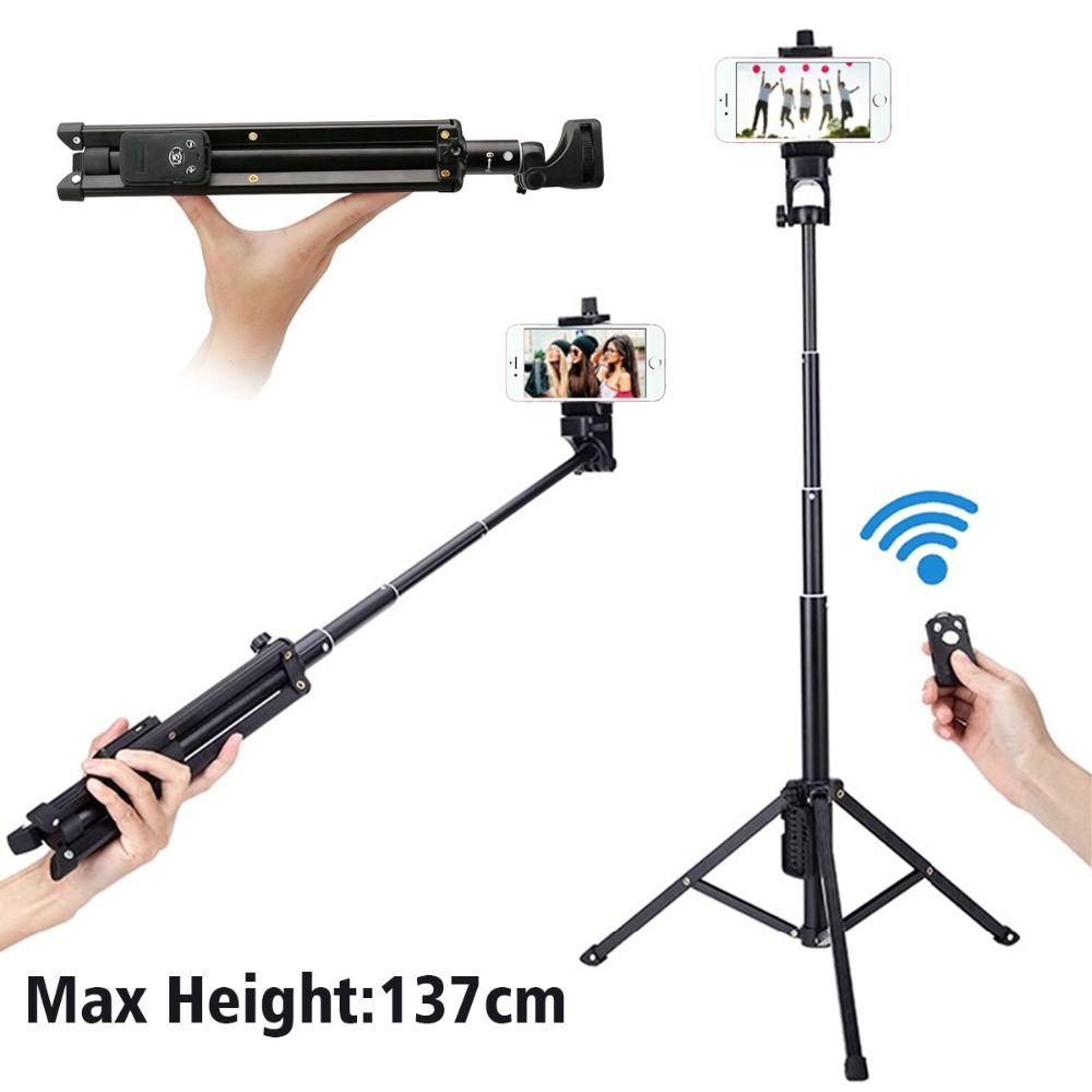 Ulanzi 54 inch 3 in 1 Yunteng Selfie Stick Tripod Stand Super Lightweight Mini Bluetooth Remote Monopod For Iphone7 6 Samsung