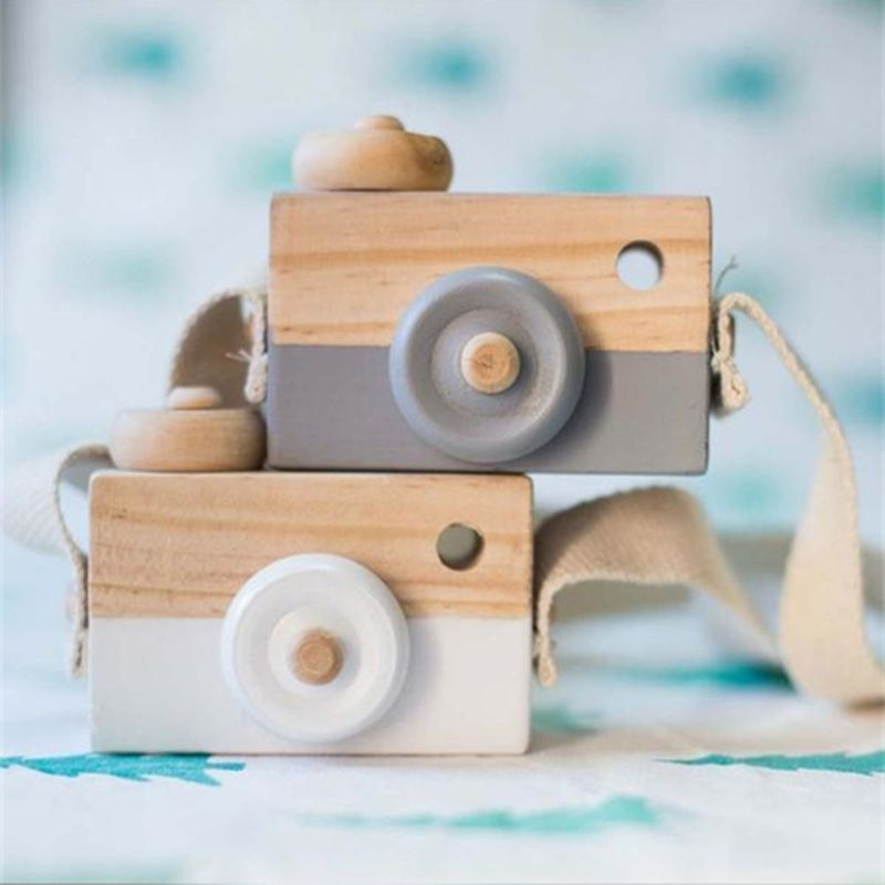 Cute Nordic Hanging Wooden Camera Toy 9.5*6*3cm Room Decor Furnishing Articles Baby Birthday Gifts Wood Toys for Children