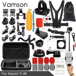 Vamson for Xiaomi yi 4K Accessories kit for xiaom yi 2 for xiaomi yi 1 set Mount Dotted Texture Monopod VS92