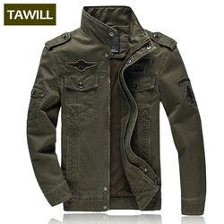 TAWILL Hommes veste jean militaire Plus 6XL armée soldat coton Air force one homme Marque vêtements Printemps Automne Hommes vestes 8331