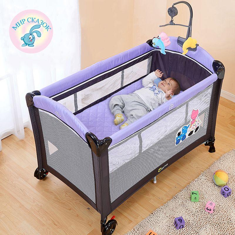 Pliage multifonctionnel lit enfant lit Continental parc portatif avec des moustiquaires bébé shaker
