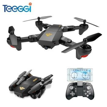 Teeggi VISUO XS809HW XS809W Selfie Drone Avec Grand Angle HD caméra WiFi FPV RC Quadcopter Hélicoptère Mini Dron VS Eachine E58