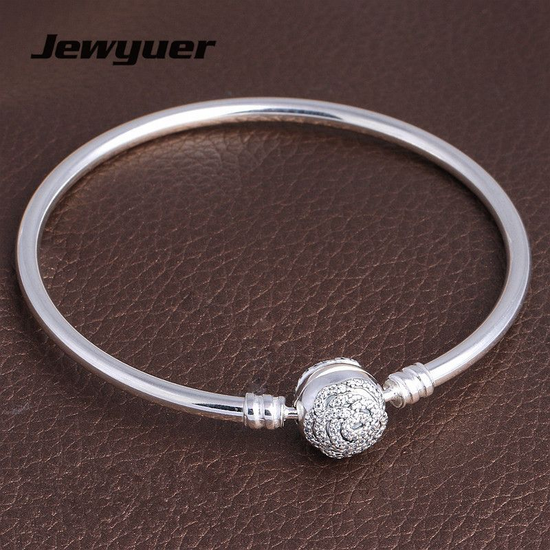 Plata de Ley 925 de la Bella y la Bestia pulseras para las mujeres con clip de la flor de ajuste encanta la pulsera y brazaletes DIY Jewyuer YSZ056