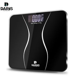 SDARISB Smart Household Glass Body Scales Floor Digital Bathroom Scale 0.01g Electronic Body Weight Scale LCD Display 180KG/50G