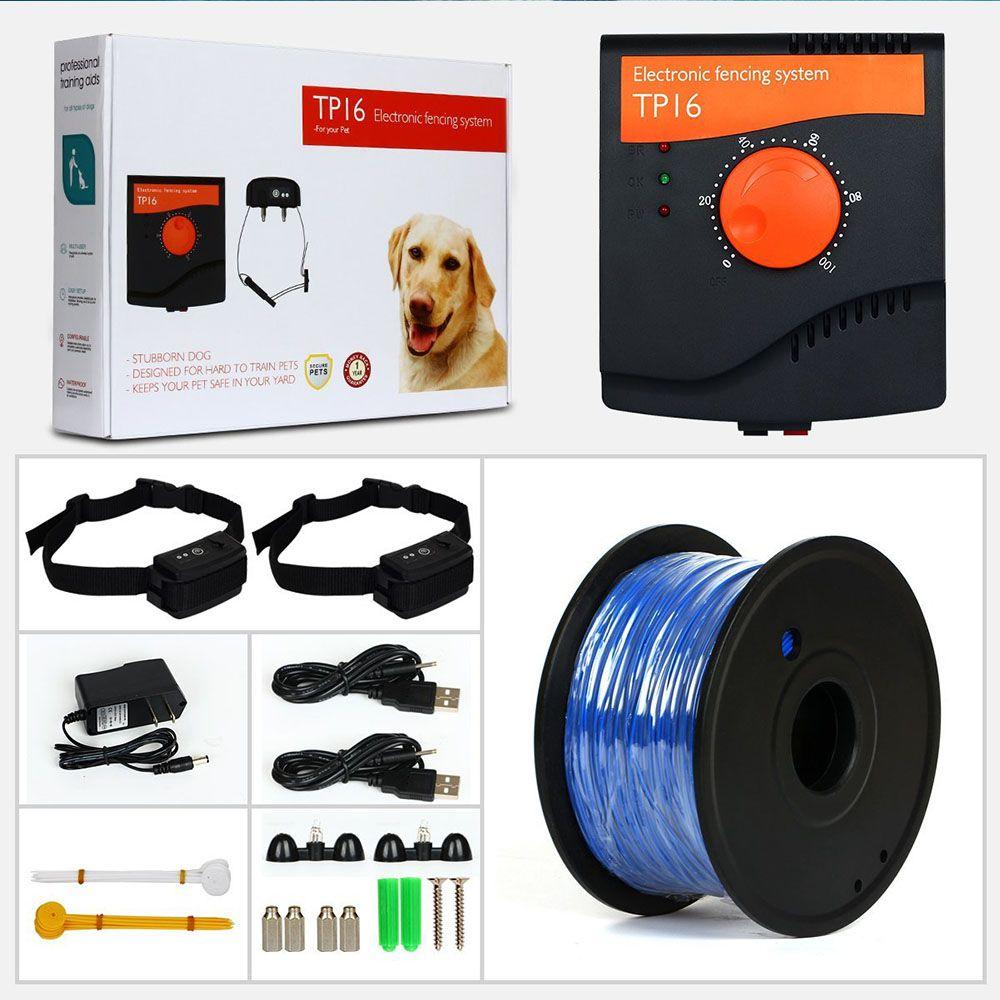 5625 platz Meter TP16 Pet Hund Elektrische Zaun Wasserdichte Wiederaufladbare Ausbildung Elektrische schock Hunde Kragen Hund Liefert