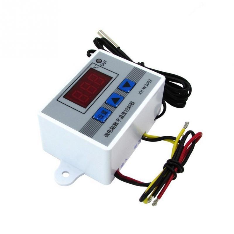 XH-W3002 Digitaler temperaturregler 12 V, 24 V, 220 V ABS temperaturregler Mit 1 Mt wasserdichter sonde LCD display