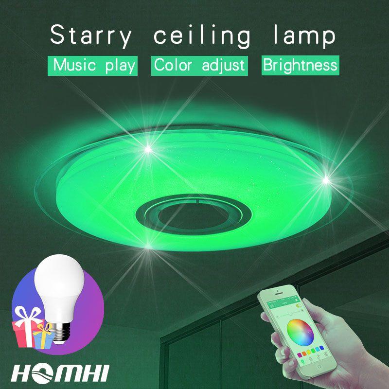 36w Modern Music LED ceiling lamp for bedroom Decoration home light kids children room Blue light starry sky light fixtures