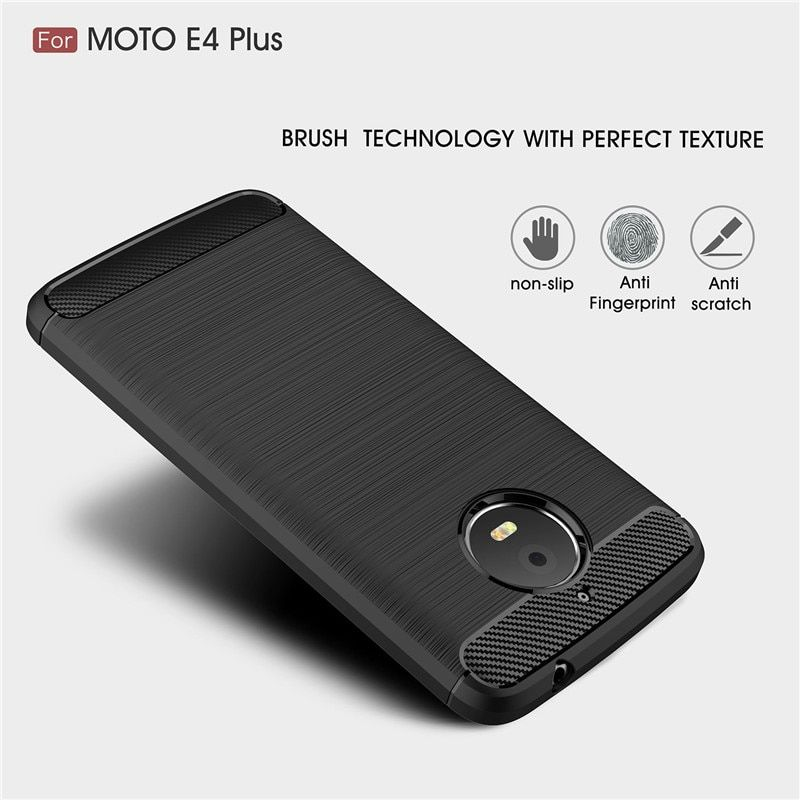 For Motorola G5S G5S Plus Brushed Carbon Fiber Soft TPU Drawing Back Cover For Moto E4 E5 G4 G5 G6 Plus Silicone Case C Plus