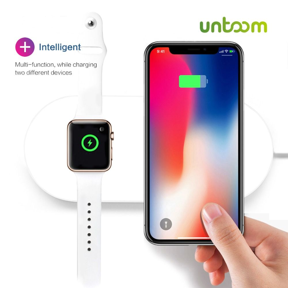 Airpower For iWatch 2 3 QI Wireless Charger For iPhone X 8 8plus Quick Fast Charging Pad For Apple Watch Sumsang S9 S8 S8P S7 S6