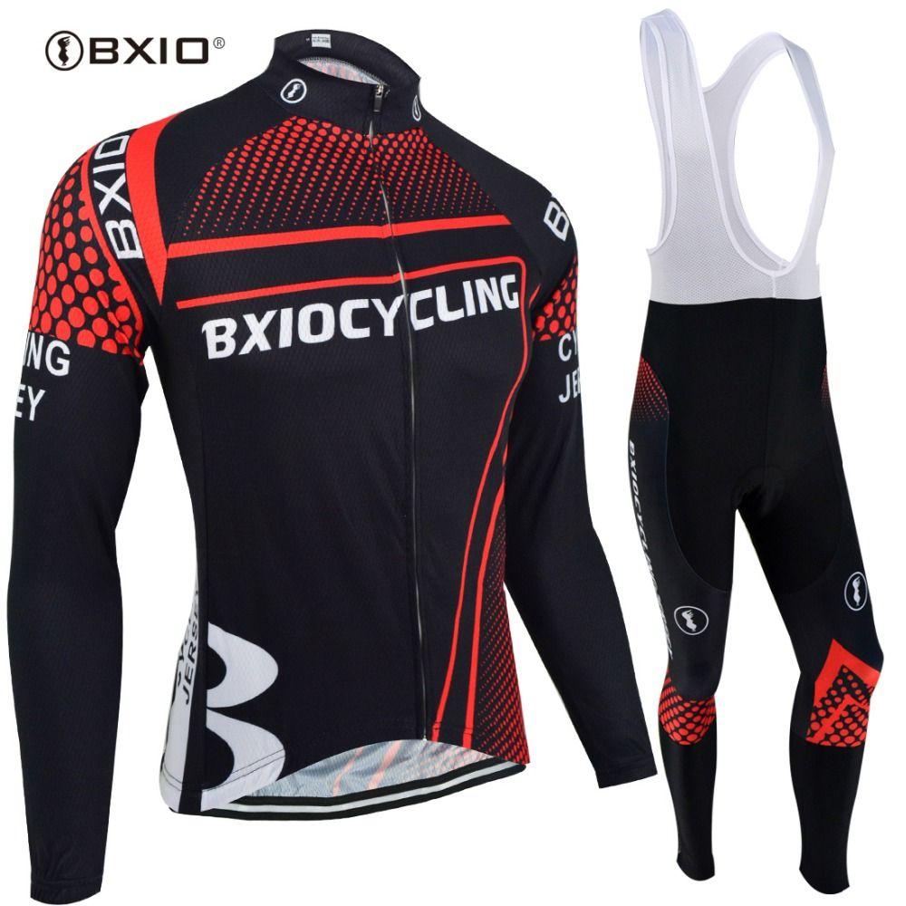 BXIO Marke Winter Thermische Vlies Fahrradbekleidung Sets Pro Team Bike Downhill Jersey Skinsuit MTB Sport Tragen Roupas De Ciclismo