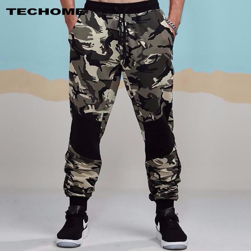 2018 nuevos mens del otoño lápiz Pantalones harem hombres camuflaje Militar Pantalones Loose cómodo cargo Pantalones CAMO Pantalones de chándal s-2xl