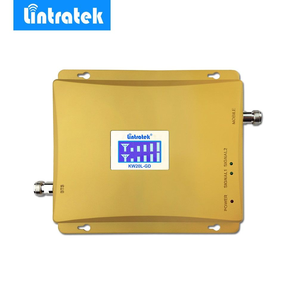 Lintratek LCD Display GSM 900 + GSM 1800 Signal Repeater 4G 1800Mhz GSM 900Mhz Dual Band Cell Phone Signal Booster Amplifier #48