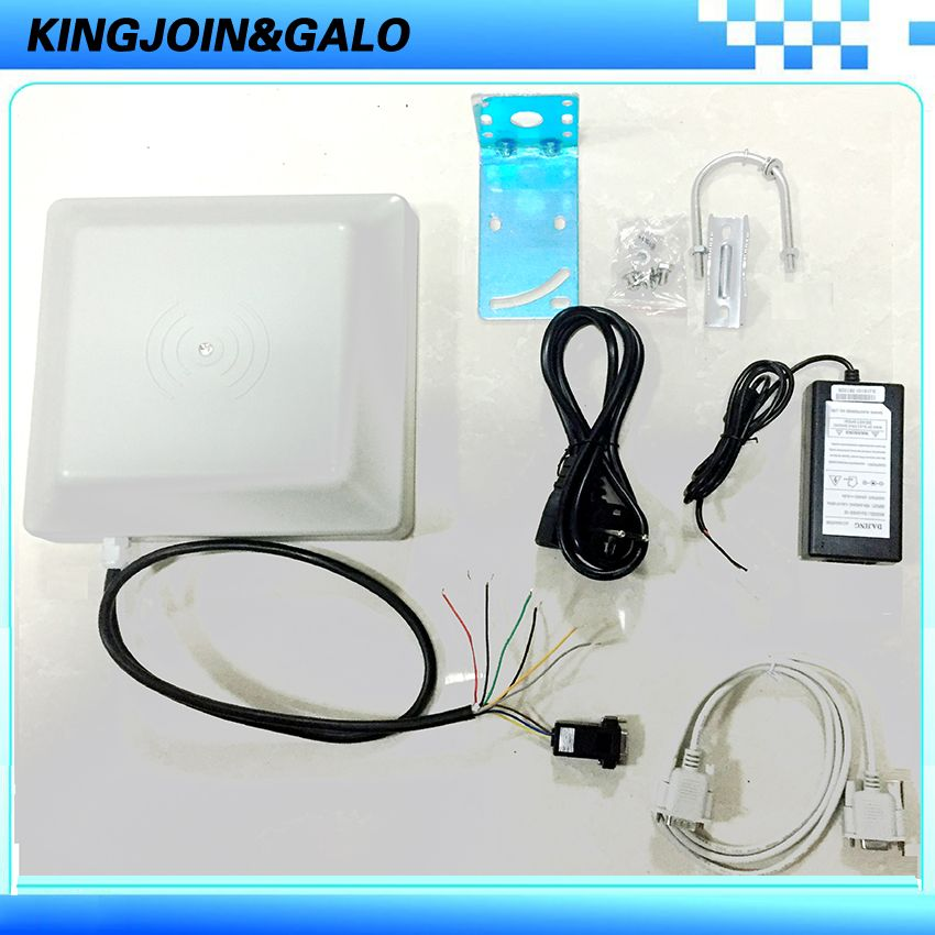 UHF RFID card reader 6m long distance range with 8dbi Antenna RS232/RS485/Wiegand Read Integrative UHF Reader