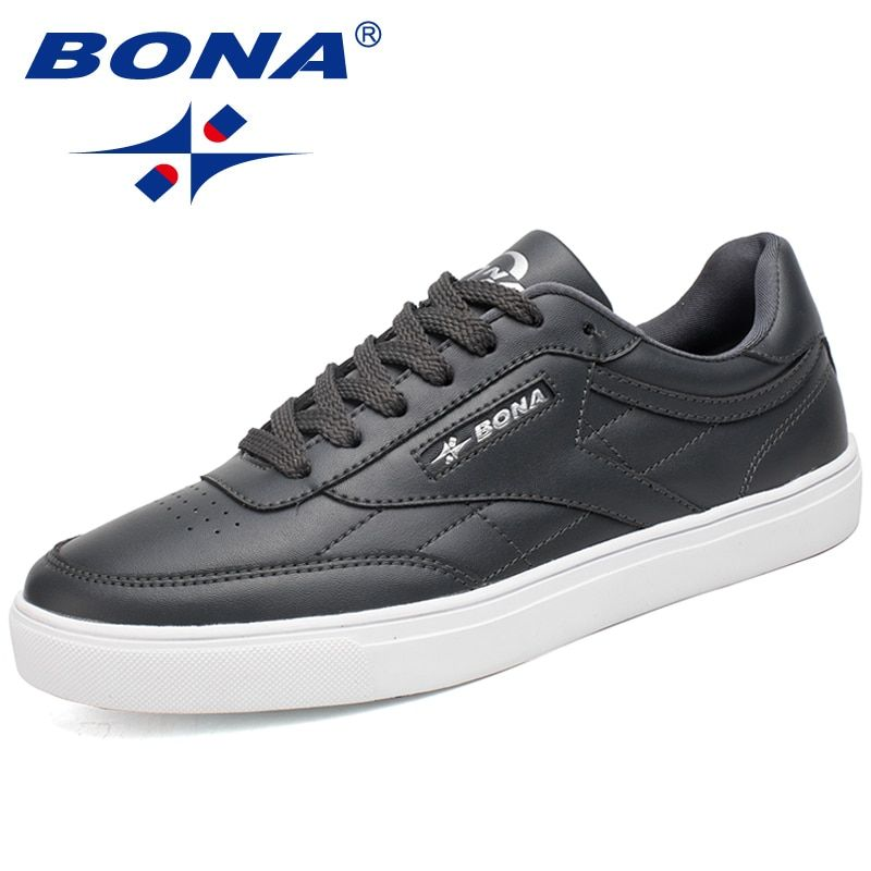 BONA Classic Style Men Skateboarding Shoes Lace Up Sport Shoes Outdoor Jogging Sneakers Zapatillas Deportivas Hombre Comfortable