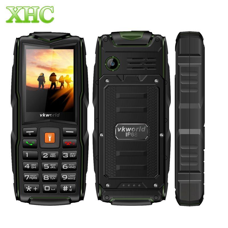 Original VKworld New Stone V3 IP68 Waterproof 2.4''3000mAh Tri SIM card with Russian keyboard FM LED flashlight durable phone