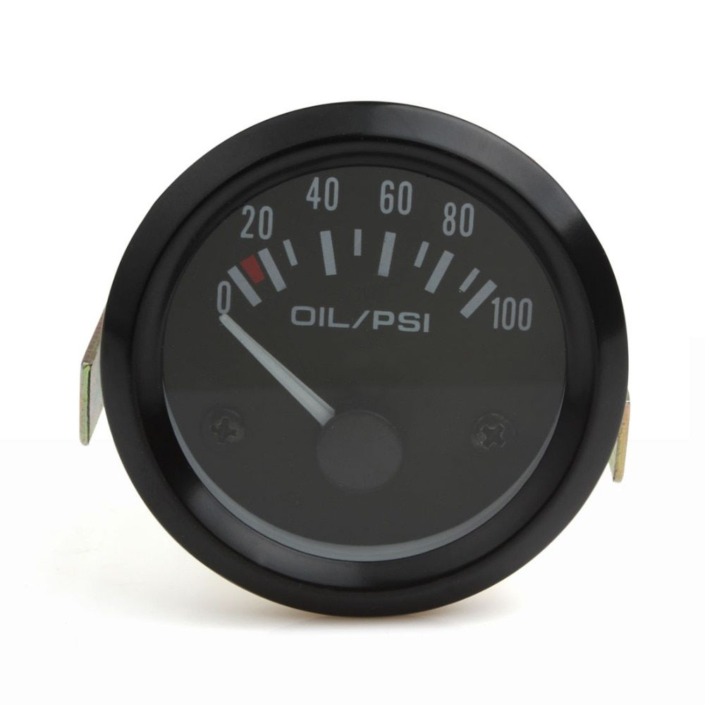 2 Inch Universal Auto Car Oil Pressure Gauge 2inch 0-100 Psi Car Oil Press Gauge Meter LED Oil Pressure Gauge Meter