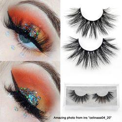 Visofree eyelashes 3D mink eyelashes long lasting mink lashes natural dramatic volume eyelashes extension false eyelashes D22