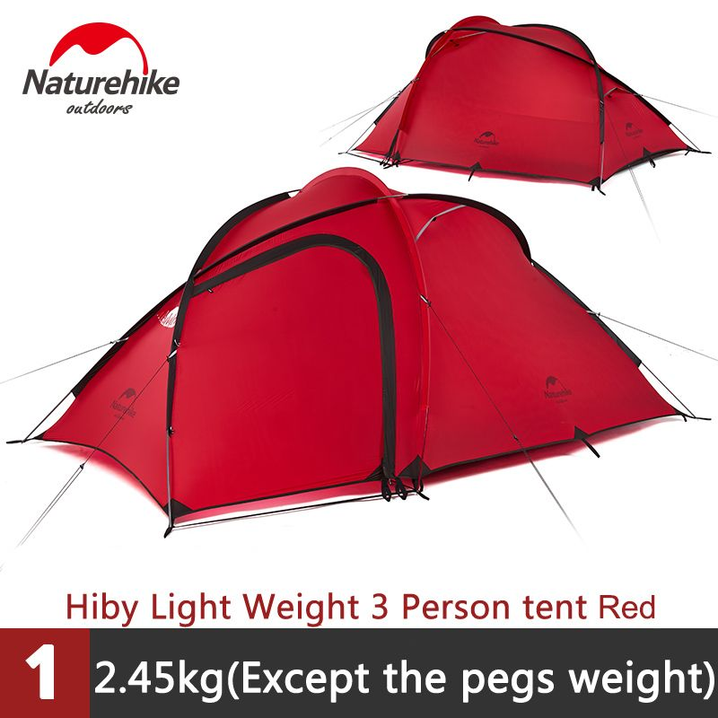 Naturehike Outdoor 2-3 person Waterproof Double-layer Tent With A Living Room NH17K230-N