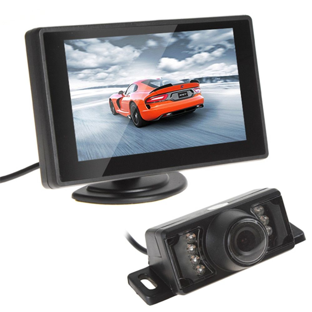 Universal 4.3 Inch Car Monitor 480X272 TFT LCD Car Rear View Monitor Vehicle Auto Car Rearview Reverse Monitor 16:9