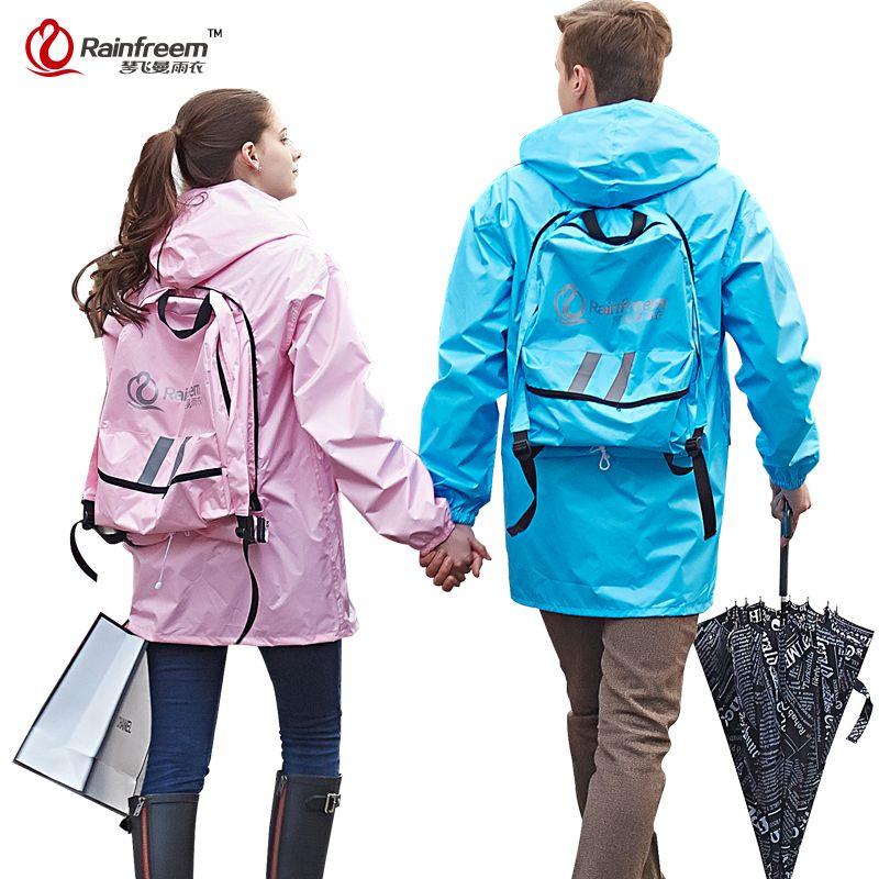 Rainfreem Undurchlässig Radfahren Regenmantel Frauen/Männer Regen Jacke Motorrad Regenmantel Wasserdichte Regen Poncho Regenbekleidung Regen Getriebe