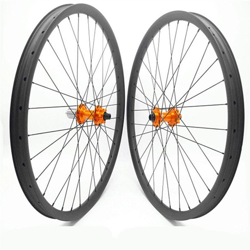 29er carbon disc mtb räder mtb bike räder HOFFEN pro4 boost 110x15 148x12 disc mtb fahrrad räder 35x25mm breite 1420 speichen
