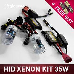 35 W DC xenon hid kit Slim Ballast bombillas H1 H3 H7 H8/9/11 9005 9006 todos los colores 4300 K 6000 K 8000 K 10000 K 12000 K glowtec