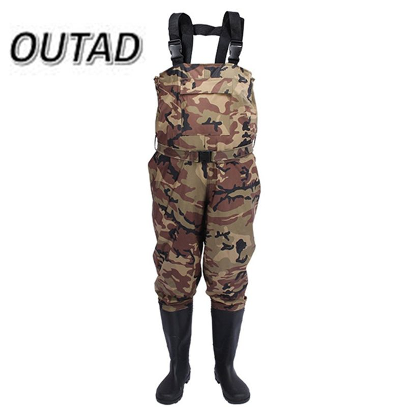 New Camouflage Thicker Waterproof Fishing Boots Pants Breathable Chest Wading Farming Overalls for Outdoor Fishing Waders sizes