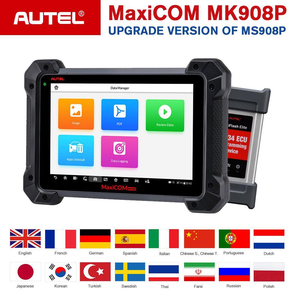Autel MaxiCom MK908P OBDII ECU Tester Programmierung OBD2 Auto Diagnose Scanner Tool J2534 Programmierer PK Maxisys Elite MS908 Pro