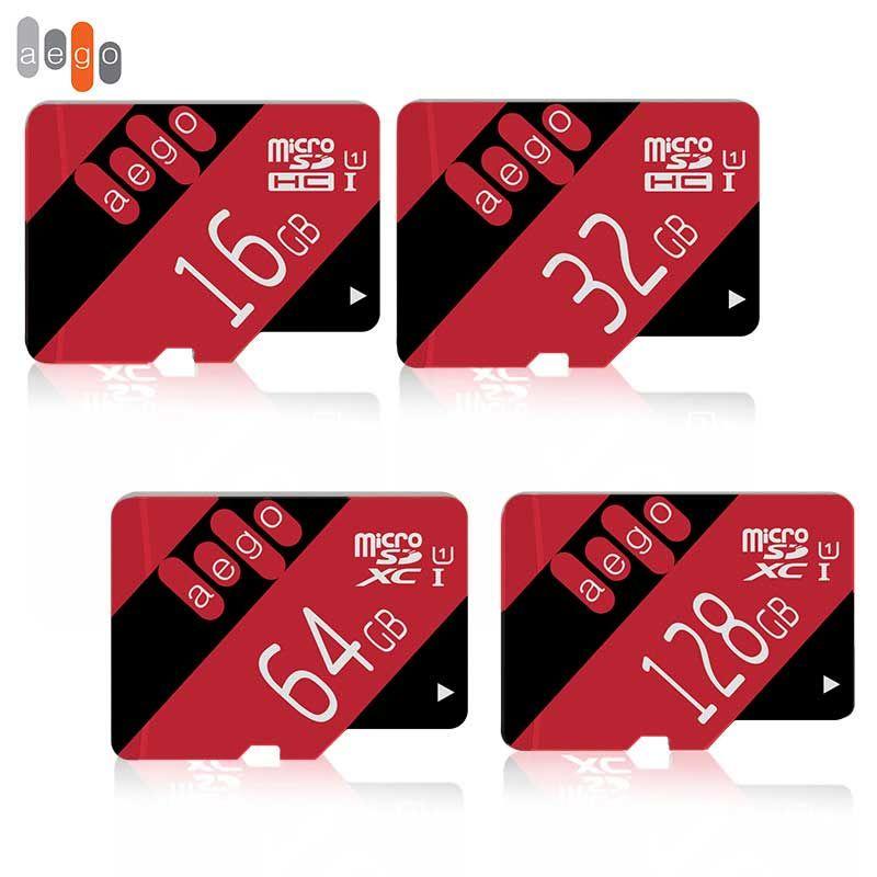 AEGO Micro Sd 32 gb Flash Carte Mémoire 600X8 gb 64 gb 128 gb SDXC Class10 16 gb UHS-1 Haute Vitesse TF Carte Pour Smartphone Tablet Pad