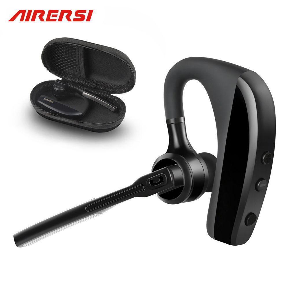 ARERSI K10 Bluetooth Headset Wireless Handsfree Noise Reduction Business Office Music Earphones Headphones with Storage Box