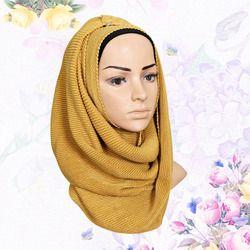 KL227 Taffetas De Mode Foulard Turbante Coloré Jersey Châles Solide Intérieure Hijab Turban Musulman 180-80 CM
