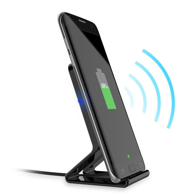 Henzarne QC 2.0 QI Fast Charge Wireless Charger Stands Pads For Iphone 8 Iphone X Samsung S8 S7Edge 10W Wireless Charger Pads