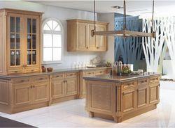 2017 Бесплатный дизайн Пользовательского мебель для кухни с твердой деревянной двери модульные кухонные шкафы