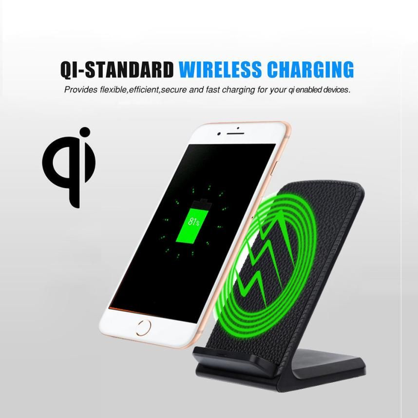 HL 2018 3-bobines Charge Qi Sans Fil De Charge Stand Dock pour Iphone 8/8 Plus Rapide Charge pour Samsung drop shipping sep26