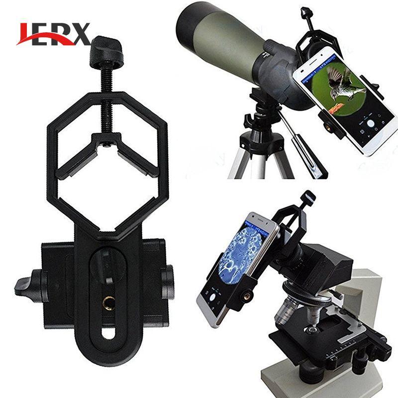 JERX Universel Microscope Télescope Stand Adaptateur Pour iPhone 7 6 S Alliage Smartphone Téléphone titulaire
