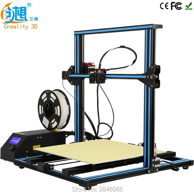 CREALITY 3D CR-10 Large 3d print Faster Preheat High Precision Reprap Prusa i3 3d printer DIY kits with PLA filament card LCD