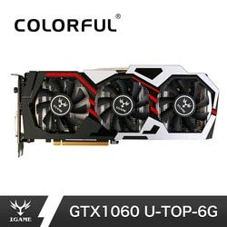 Colorful NVIDIA GeForce iGame GTX1060 6GB GPU GDDR5 192bit PCI-E VR Ready 1060 Video Graphics Card DVI+HDMI+3*DP For PC Gaming