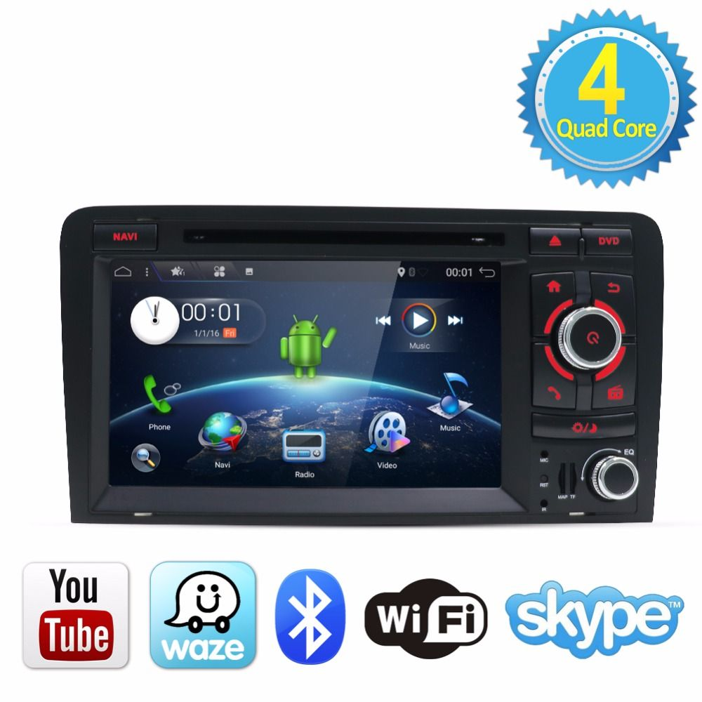 Bosion Android 7.1 2G android 7.1 CAR DVD GPS For Audi A3 with dvd player radio stereo Audio auto multimedia screen navigation