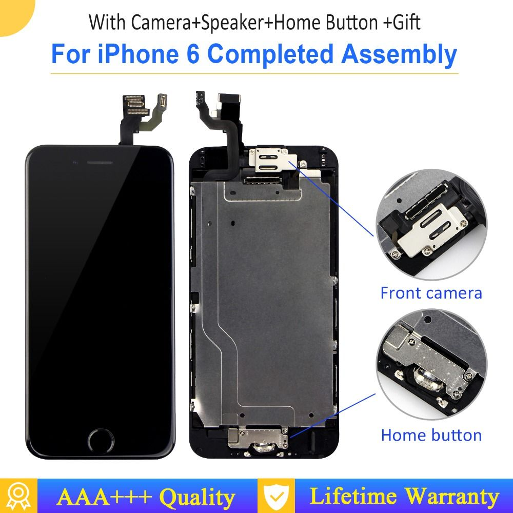 Grade AAA+++ Full Assembly Display For iPhone 5 6s 6 Plus LCD 100% Complete Replacement With 3D Force Touch Screen No Dead Pixel