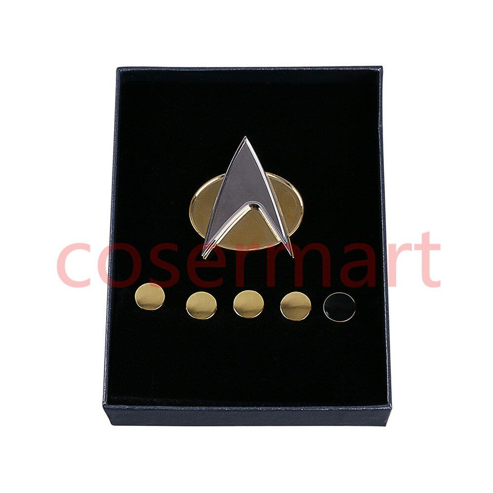 Star Trek Badge Next Generation Metal Badge Pin&Rank Pip/Pips 6pcs Set Cosplay Prop